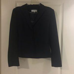 Calvin Klein dark gray ladies suit with skirt